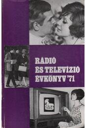 Rádió és televízió évkönyv 1971 - Régikönyvek