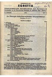 Egretta Vogelkunde Nachrichten aus Österreich 16. 1-2. 1973 (Egretta Ausztriai madártani hírek 16. évf. 1-2. szám 1973) - Régikönyvek