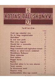 Kottás dalosköny 27. szám - Tardos Béla - Régikönyvek