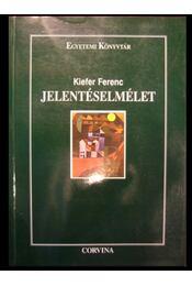 Jelentéselmélet - Régikönyvek