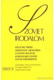 Szovjet irodalom 1989/9 - Király István - Régikönyvek