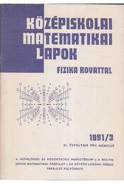 Középiskolai matematikai lapok 1991/3. január - Régikönyvek