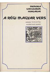 A régi magyar vers - Komlovszki Tibor - Régikönyvek