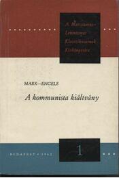 A kommunista kiáltvány - Régikönyvek