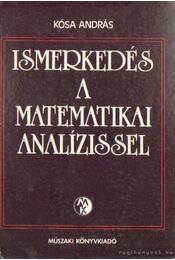 Ismerkedés a matematikai analízissel - Kósa András - Régikönyvek