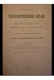 Geographischer Atlas für Mittelschulen - Régikönyvek