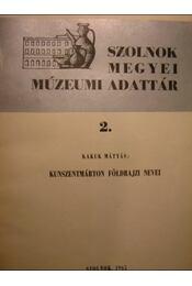 Kunszentmárton földrajzi nevei - Régikönyvek