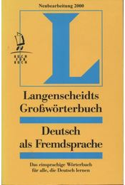 Langenscheidts Großwörterbuch Deutsch als Fremdsprache - Régikönyvek