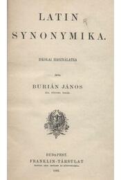 Latin synonymika - Régikönyvek