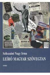 Leíró magyar szövegtan - Régikönyvek