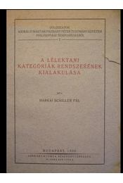 A lélektani kategóriák rendszerének kialakulása - Régikönyvek