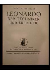 Leonardo der techniker und erfinder - Régikönyvek