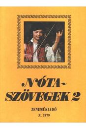 Nótaszövegek 2. - Leszler József - Régikönyvek