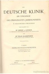 Die Deutsche Klinik II. band - Leyden, Dr. Ernst v., Klemperer, Dr. Felix - Régikönyvek