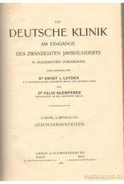 Die Deutsche Klinik VI. Band, 2. Abtheilung - Leyden, Dr. Ernst v., Klemperer, Dr. Felix - Régikönyvek