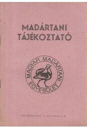 Madártani tájékoztató 1982. október-december - Régikönyvek