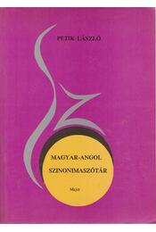 Magyar-angol szinonimaszótár - Régikönyvek