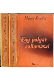 Egy polgár vallomásai I-II. - Márai Sándor - Régikönyvek