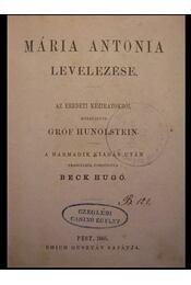Mária Antonia levelezése - Régikönyvek