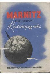 Marnitz zenei központ rádióárjegyzéke - Régikönyvek