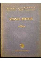 Műszaki mérések - Régikönyvek