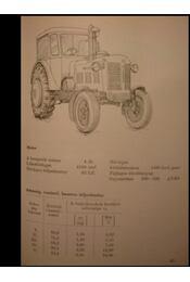 Mezőgazdasági gépek adatai - Régikönyvek