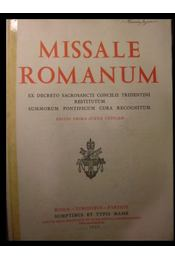 Missale Romanum - Régikönyvek