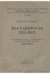 Magyarország 1514-ben - Régikönyvek