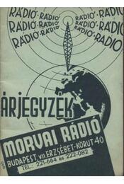 Morvai Rádió Árjegyzék - Régikönyvek
