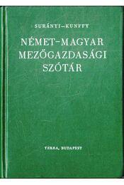 Német-magyar mezőgazdasági szótár - Régikönyvek