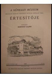 A Néprajzi Múzeum Értesítője 1940. 1-2. szám - Régikönyvek