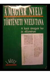 A magyar nyelv történeti nyelvtana I. - Régikönyvek