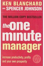 The One Minute Manager - Ken Blanchard, Johnson, Spencer - Régikönyvek