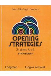 Opening strategies Students' Book - Strategies 1. I. - Régikönyvek
