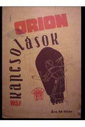 Orion kapcsolások 1937 - Régikönyvek