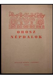Orosz népdalok - Régikönyvek