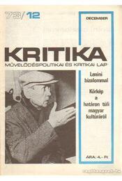 Kritika 73/12 - Pándi Pál - Régikönyvek