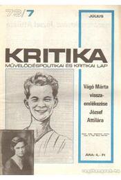 Kritika 73/7 - Pándi Pál - Régikönyvek