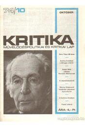 Kritika 74/10 - Pándi Pál - Régikönyvek