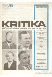 Kritika 74/9 - Pándi Pál - Régikönyvek