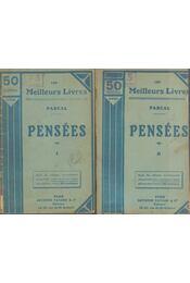 Pensées I-II. - Pascal, Blaise - Régikönyvek