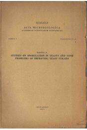 Studies on Sporulation in Yeasts and Some Problems of Improving Yeast Strains (dedikált) - Pazonyi B. - Régikönyvek
