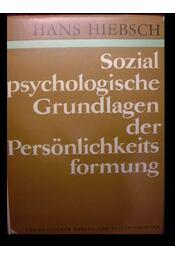 Sozial psychologische Grundlagen der Persönlichkeits formung - Régikönyvek