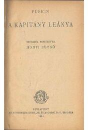 A kapitány leánya - Puskin - Régikönyvek
