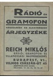 Rádió és gramofon készülékek és alkatrészek árjegyzéke - Régikönyvek