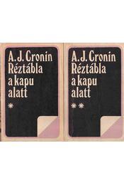 Réztábla a kapu alatt I-II. kötet - Régikönyvek