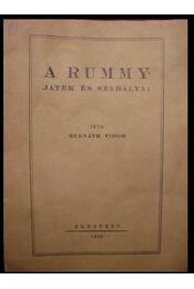 A Rummy-játék és szabályai - Régikönyvek