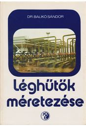 Léghűtők méretezése - Régikönyvek