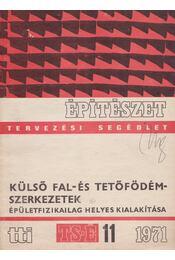 Külső fal- és tetőfödémszerkezetek épületfizikailag helyes kialakítása - Molnár Béla - Régikönyvek