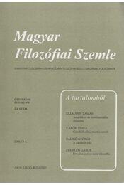 Magyar Filozófiai Szemle 2006/3-4. - Steiger Kornél - Régikönyvek
